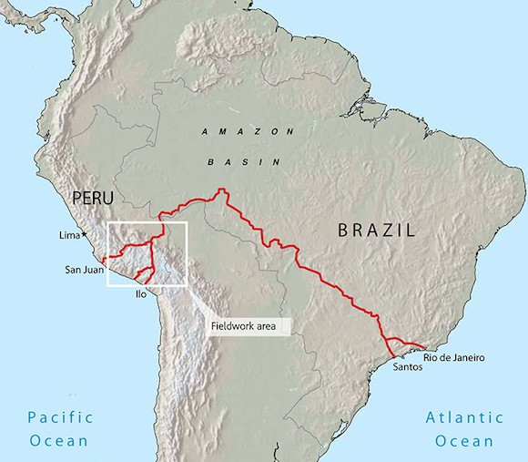 Destructive Progress BrazilPeru Transoceanic Highway - Road map of peru