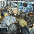 """Viewed today, Rivera's """"Detroit Industry"""" murals might have prefigured Detroit's downfall, but also envision a renaissance. It harkens to the earth, the races living and working in harmony, where much of the city has been cleared of slums and allowed to regrow with food crops, grasses and trees."""