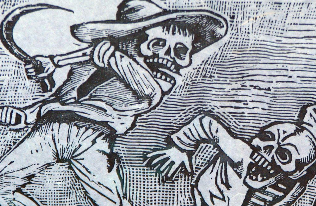 illustrated story from Day of the Dead by Posada