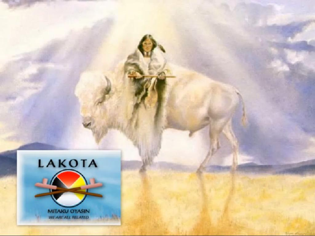 Lakota People, White Buffalo Calf woman myth