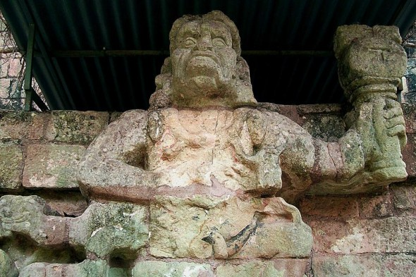 Howler Monkeys as deities to the Maya in Central America, Copan Ruins, Honduras, Maya People, Maya Indians, Maya archaeology
