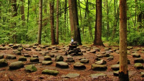 maze, Massachusetts woods, Amherst