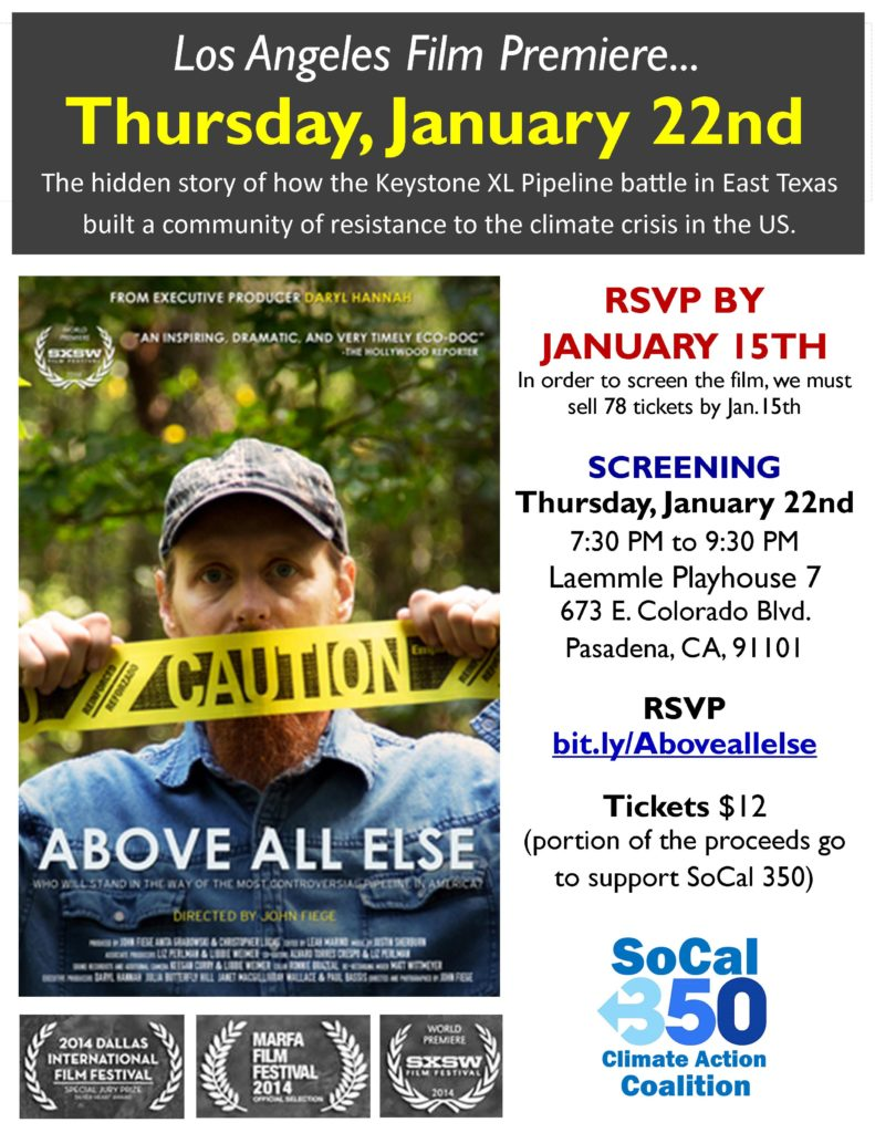 SoCal 350 Screening, Tar Sands, Keystone XL