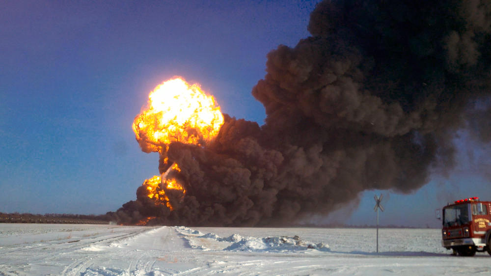 Bomb Trains, crude by rail, Casselton, ND