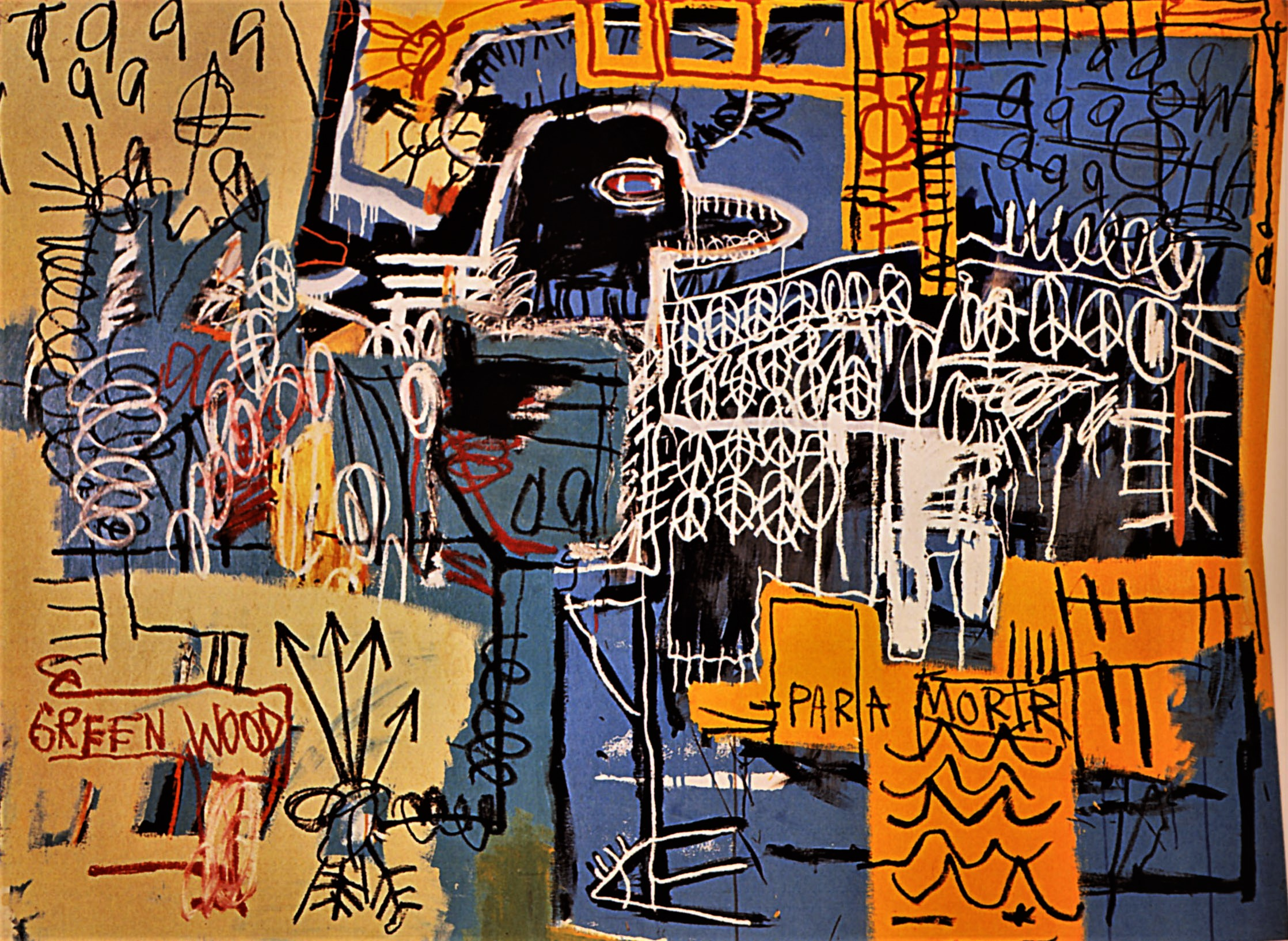 Jean,Michel Basquiat Poverty and Power, Scrawled on Walls