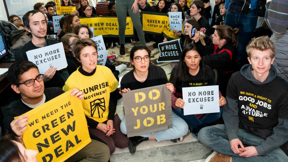 Green New Deal Protest