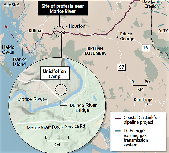 First Nations Fight Coastal GasLink Pipeline
